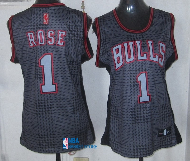 Achat Maillot NBA Femme 2013 Static Fashion NO.1 Derrick Rose