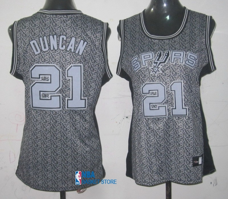 Achat Maillot NBA Femme 2013 Static Fashion NO.21 Tim Duncan
