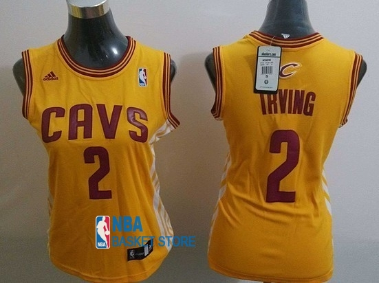 Achat Maillot NBA Femme Cleveland Cavaliers NO.2 Kyrie Irving Blanc Bande