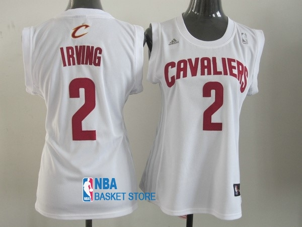 Achat Maillot NBA Femme Cleveland Cavaliers NO.2 Kyrie Irving Blanc Rouge