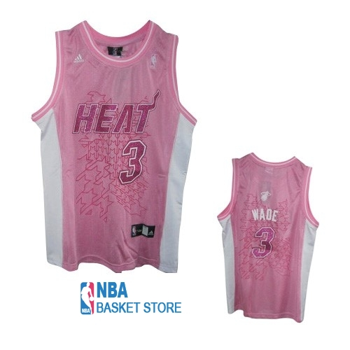 Achat Maillot NBA Femme Miami Heat NO.3 Dwyane Wade Rose