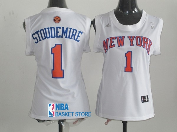 Achat Maillot NBA Femme New York Knicks NO.1 Amar'e Stoudemire Blanc