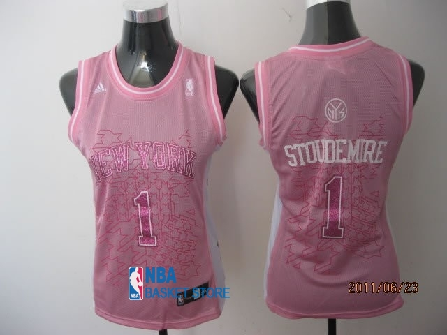 Achat Maillot NBA Femme New York Knicks NO.1 Amar'e Stoudemire Rose