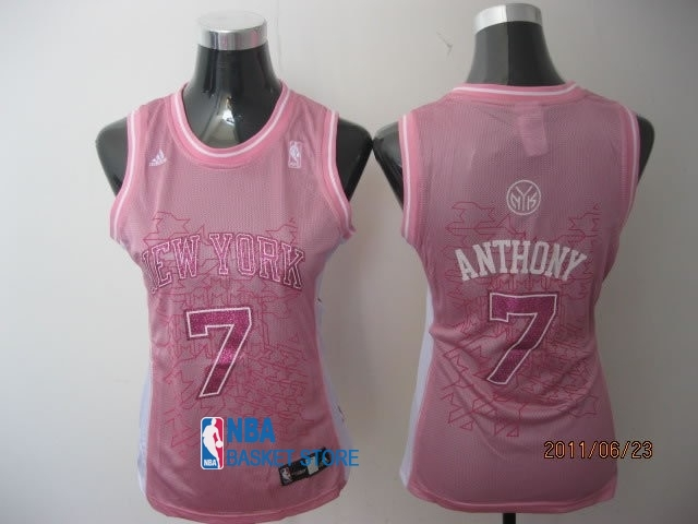 Achat Maillot NBA Femme New York Knicks NO.7 Carmelo Anthony Rose