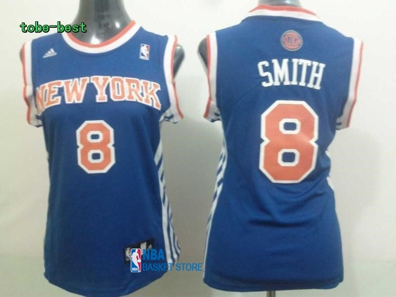 Achat Maillot NBA Femme New York Knicks NO.8 J.R.Smith Bleu