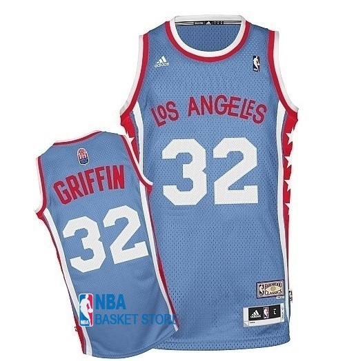 Achat Maillo ABA Los Angeles Clippers NO.32 Griffin Gris