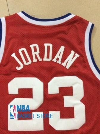 Achat Maillot NBA 1989 All Star NO.23 Michael Jordan Rouge