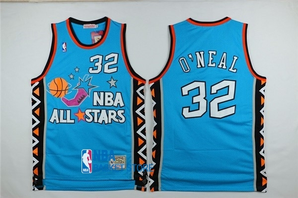 Achat Maillot NBA 1996 All Star NO.32 Shaquille O'Neal Bleu