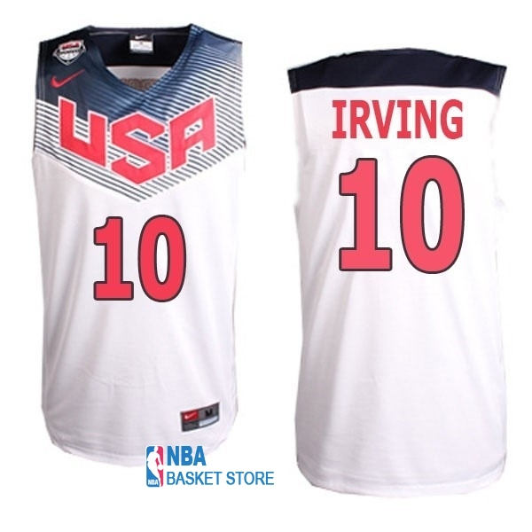 Achat Maillot NBA 2014 USA NO.10 Irving Blanc