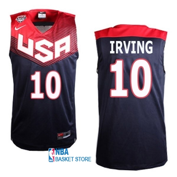 Achat Maillot NBA 2014 USA NO.10 Irving Noir