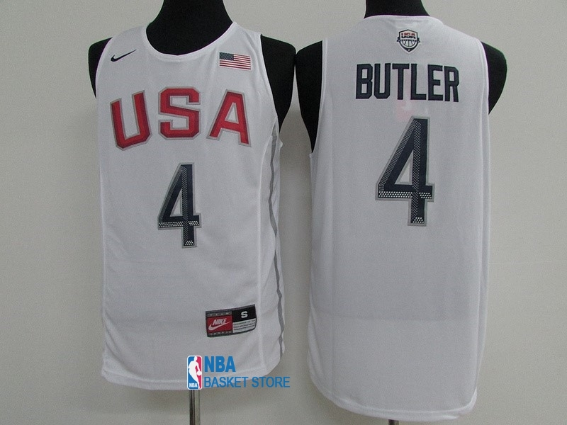 Achat Maillot NBA 2016 USA NO.4 Jimmy Butler Blanc