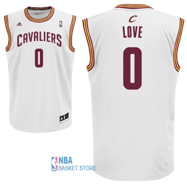 Achat Maillot NBA Cleveland Cavaliers NO.0 Kevin Love Blanc