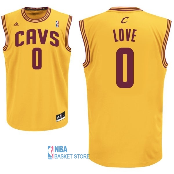 Achat Maillot NBA Cleveland Cavaliers NO.0 Kevin Love Jaune