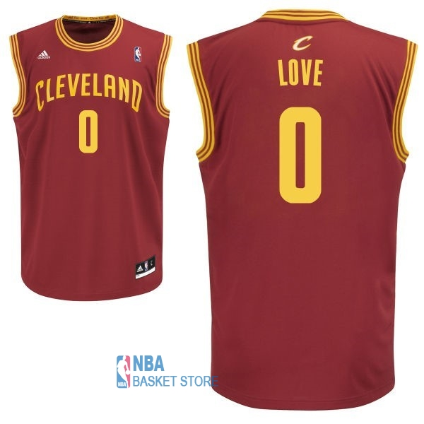 Achat Maillot NBA Cleveland Cavaliers NO.0 Kevin Love Rouge