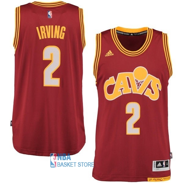 Achat Maillot NBA Cleveland Cavaliers NO.2 Kyrie Irving 2015-2016 Rouge