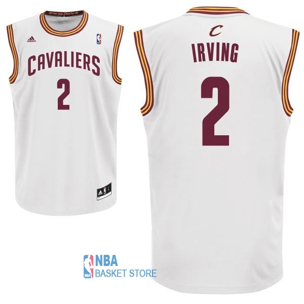 Achat Maillot NBA Cleveland Cavaliers NO.2 Kyrie Irving Blanc