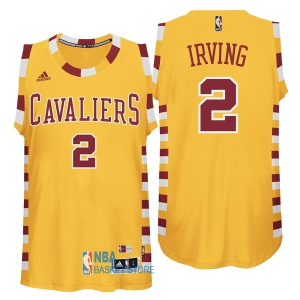 Achat Maillot NBA Cleveland Cavaliers NO.2 Kyrie Irving Jaune Encaje