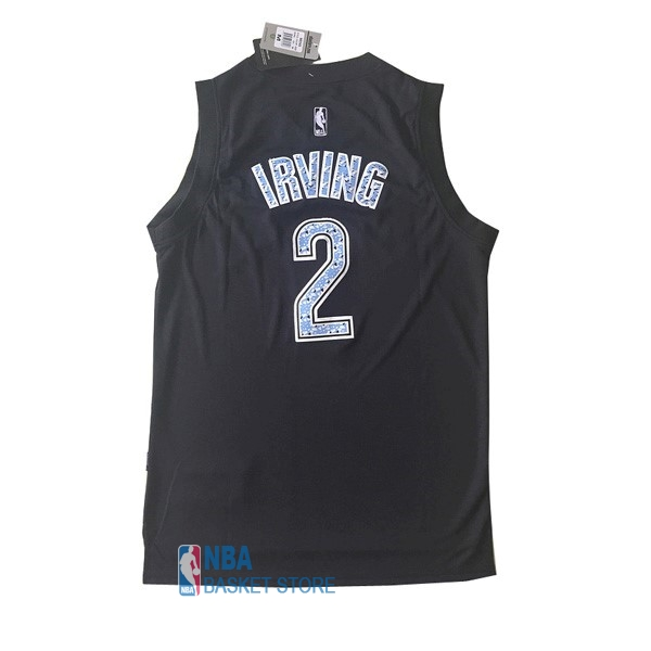 Achat Maillot NBA Cleveland Cavaliers NO.2 Kyrie Irving Noir Diamant