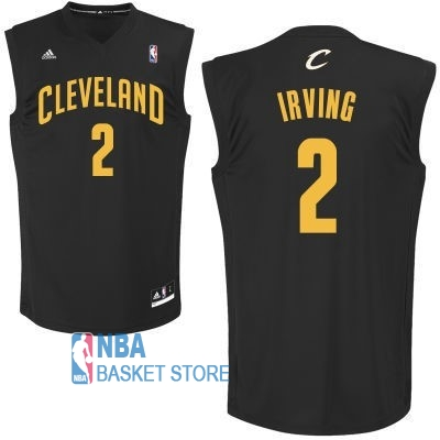 Achat Maillot NBA Cleveland Cavaliers NO.2 Kyrie Irving Noir