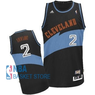 Achat Maillot NBA Cleveland Cavaliers NO.2 Kyrie Irving Retro Noir