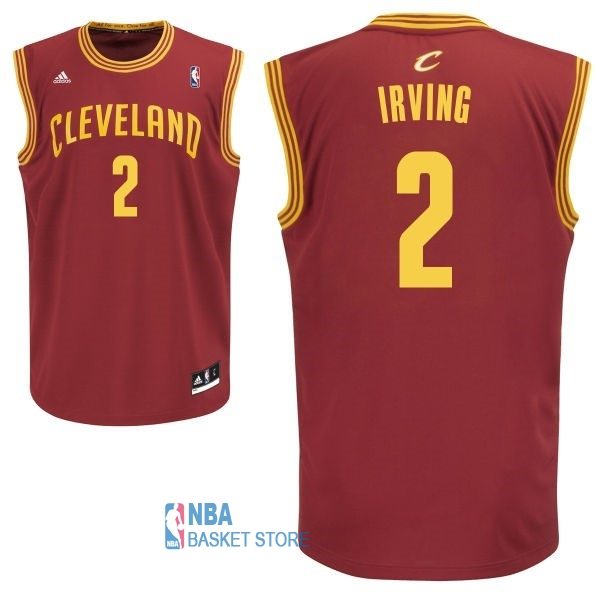 Achat Maillot NBA Cleveland Cavaliers NO.2 Kyrie Irving Rouge