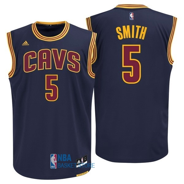 Achat Maillot NBA Cleveland Cavaliers NO.5 J.R.Smith Bleu