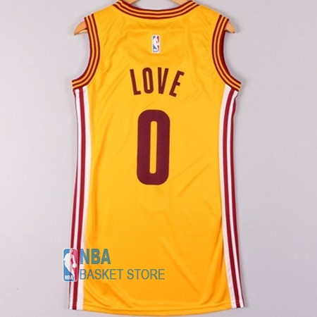 Achat Maillot NBA Femme Cleveland Cavaliers NO.0 Kevin Love Jaune