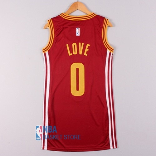 Achat Maillot NBA Femme Cleveland Cavaliers NO.0 Kevin Love Rouge