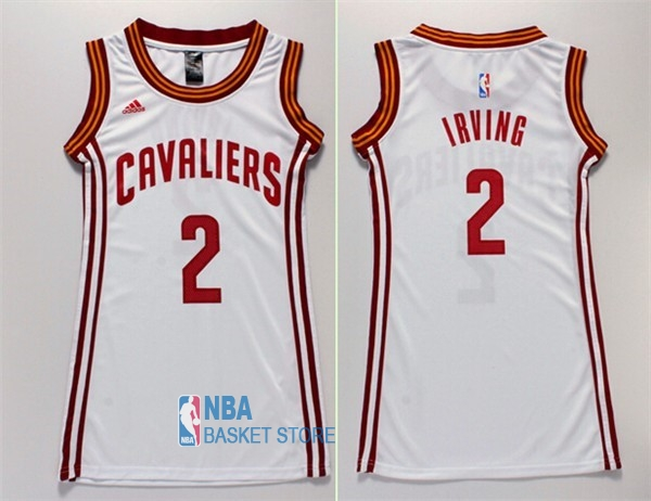 Achat Maillot NBA Femme Cleveland Cavaliers NO.2 Kyrie Irving Blanc