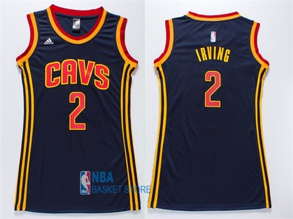 Achat Maillot NBA Femme Cleveland Cavaliers NO.2 Kyrie Irving Bleu