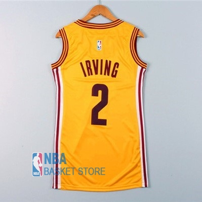 Achat Maillot NBA Femme Cleveland Cavaliers NO.2 Kyrie Irving Jaune