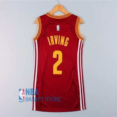 Achat Maillot NBA Femme Cleveland Cavaliers NO.2 Kyrie Irving Rouge