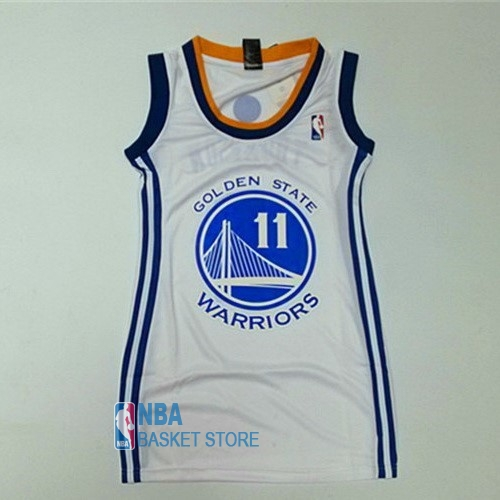 Achat Maillot NBA Femme Golden State Warriors NO.11 Klay Thompson Blanc
