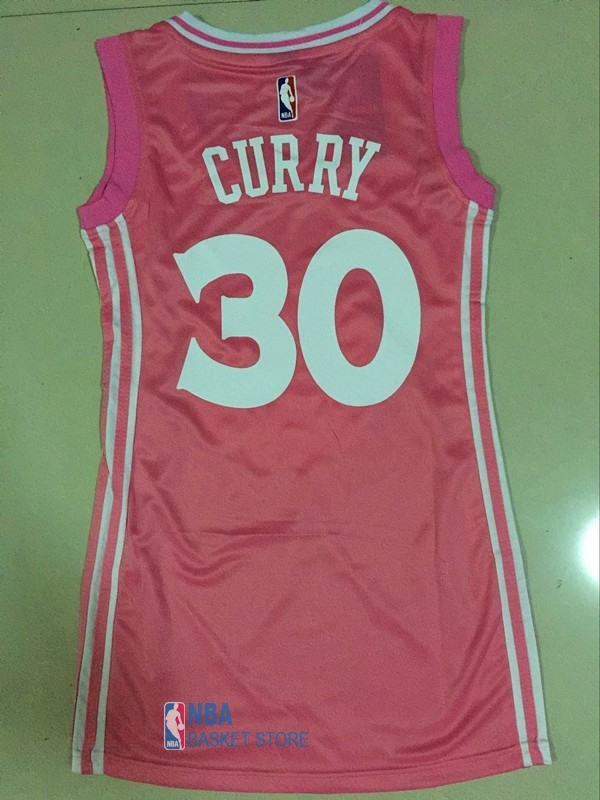 Achat Maillot NBA Femme Golden State Warriors NO.30 Stephen Curry Rose