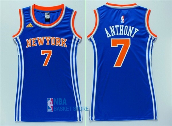 Achat Maillot NBA Femme New York Knicks NO.7 Carmelo Anthony Bleu