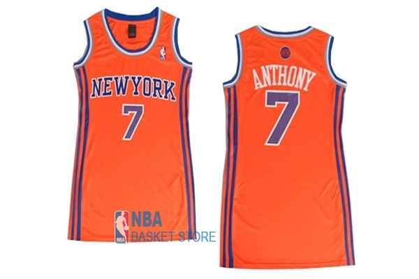 Achat Maillot NBA Femme New York Knicks NO.7 Carmelo Anthony Orange