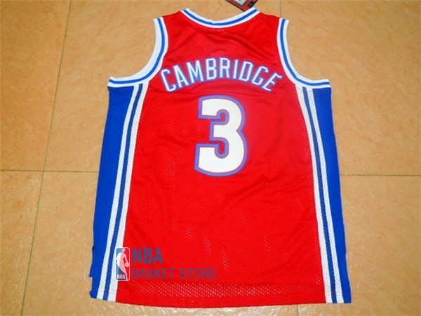 Achat Maillot NBA Film Basket-Ball Bel Air Academy NO.3 Cambridge Rouge