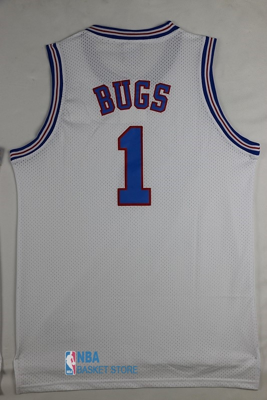 Achat Maillot NBA Film Basket-Ball Tune Squad NO.1 Bugs Blanc