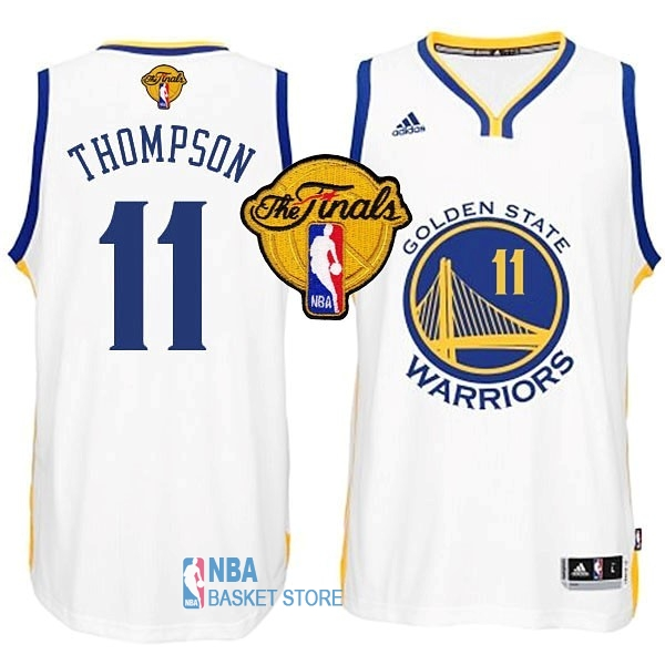 Achat Maillot NBA Golden State Warriors Finales NO.11 Thompson Blanc