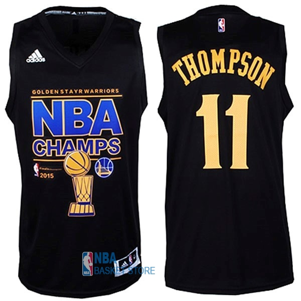 Achat Maillot NBA Golden State Warriors Finales NO.11 Thompson Noir