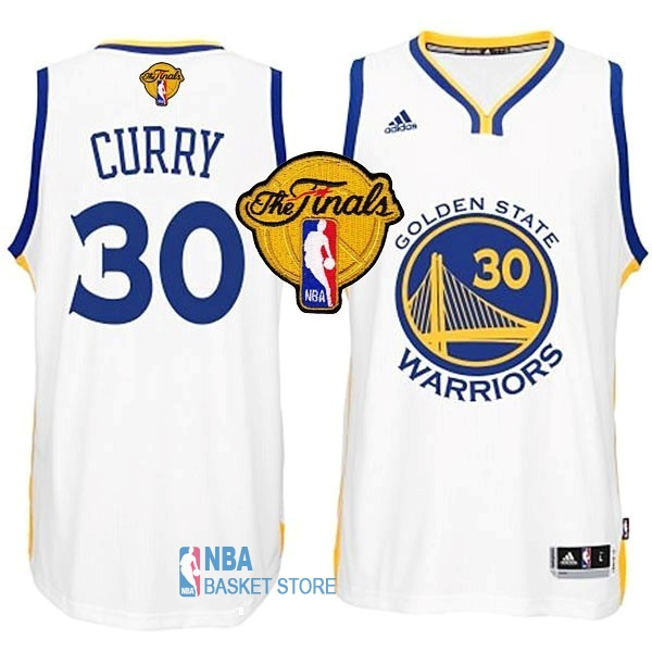 Achat Maillot NBA Golden State Warriors Finales NO.30 Curry Blanc
