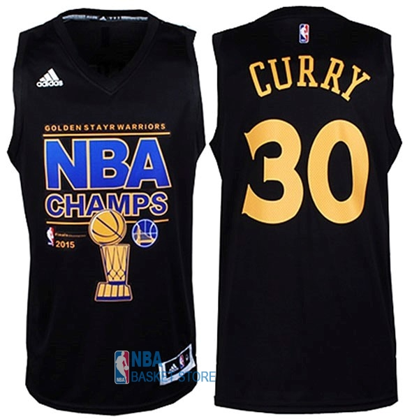Achat Maillot NBA Golden State Warriors Finales NO.30 Curry Noir
