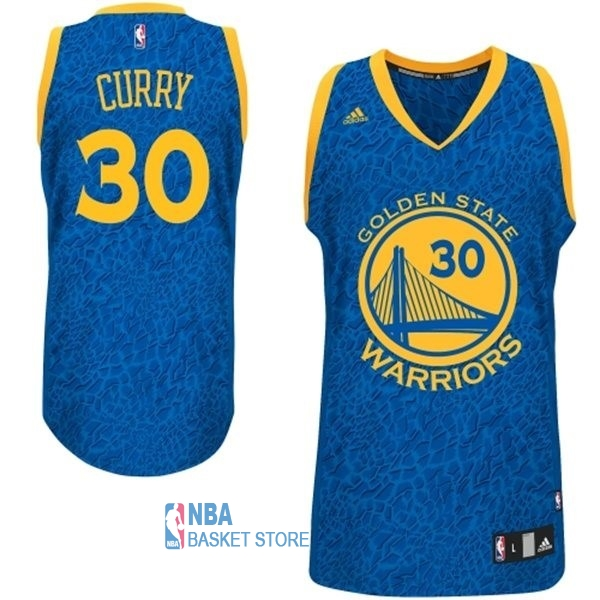 Achat Maillot NBA Golden State Warriors Luz Léopard NO.30 Curry Bleu