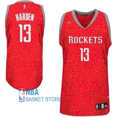 Achat Maillot NBA Houston Rockets Luz Léopard NO.13 Harden Rouge
