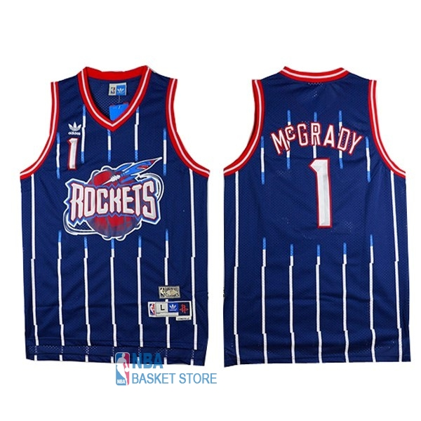 Achat Maillot NBA Houston Rockets NO.1 Tracy McGrady Retro Bleu