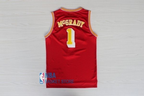 Achat Maillot NBA Houston Rockets NO.1 Tracy McGrady Retro Rouge Or