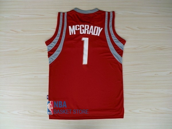 Achat Maillot NBA Houston Rockets NO.1 Tracy McGrady Rouge