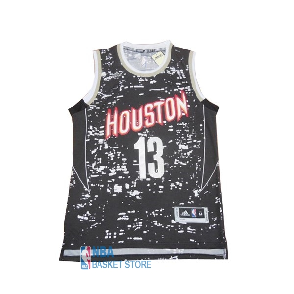 Achat Maillot NBA Houston Rockets Ville Lumières NO.13 James Harden Noir