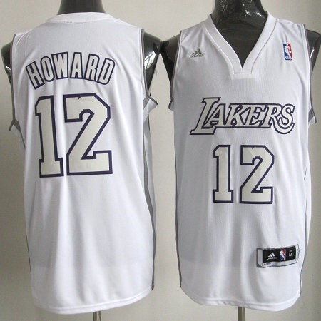 Achat Maillot NBA Los Angeles Lakers 2012 Noël NO.12 Howard Blanc