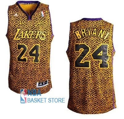 Achat Maillot NBA Los Angeles Lakers Luz Léopard NO.24 Bryant Dorado
